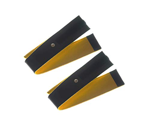 2 Fasce conduttive 60 Cm fiab a strappo in ecopelle di daino bottone 4mm per elettrostimolatori