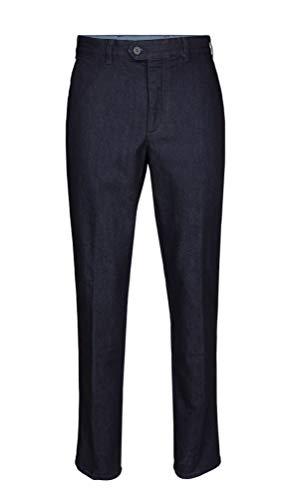 Brühl - Comfort Fit - Herren Flatfront Hose aus elastischem Stretch-Denim, Pavia (0295190340100), Größe:56, Farbe:Blau (920)