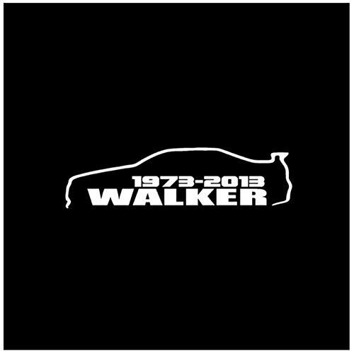 DDLLAN Auto stickers auto stickers PAUL WALKER Mode Vinyl Decal Car-styling Auto Sticker 16CM*4.3CM vinyl stickers 2 stks