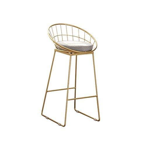 ZWL Tabouret de bar, tabouret de bar élégant de style minimaliste moderne en fer forgé mode (taille : 75cm)