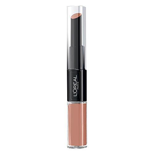L'Oreal Paris Lippen Make-up Infaillible Lippenstift, 111 Permanent Blush /Liquid Lipstick für 24 Stunden volle Lippen mit feuchtigkeitsspendendem Lippenpflege - Balsam, 1er Pack
