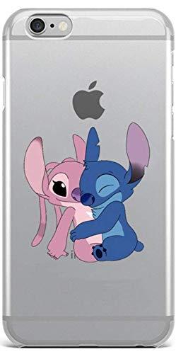 Coquefone - Cover per iPhone 6/6S, motivo: Stitch Lilo, motivo animato, colore: Rosa e Blu