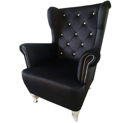 PM Ohrensessel Chesterfield Polstergarnitur Wohnizimmer Salon Design Sessel - Chester