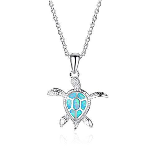 YLHJM Frauenmode Blaue Anhänger Halskette Weibliche Tierkette Halskette-A038-2_50 cm