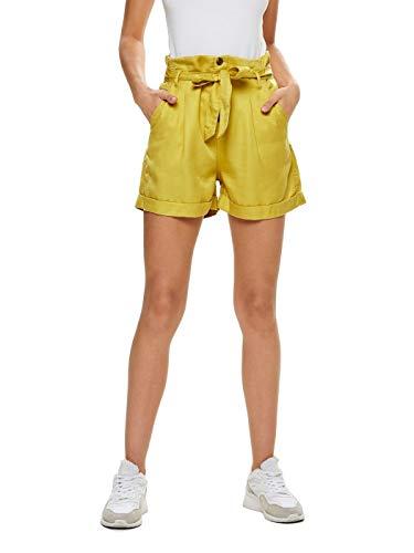 Pantalones cortos amarillo limón para mujer
