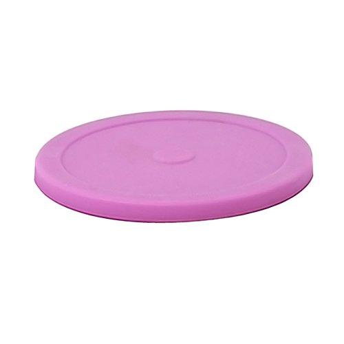 Coque en silicone Aspiration couvercles, Nourriture humide et frais hermétique Coque pour bols, tasses, casseroles et poêles, Rose, 5 pcs Diameter-7.2\
