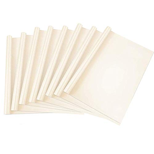 Set di Fogli di Carta in Teflon da 40 x 30 cm, 8 Fogli di Carta da Forno Bianco Panna Riutilizzabili Antiaderenti, Carta da Cucina Antigrasso per Torte e Biscotti