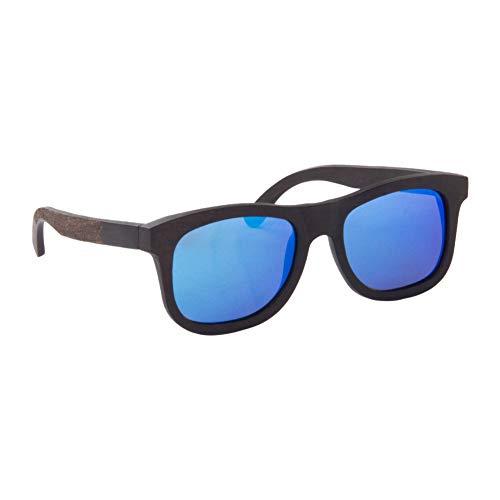 LY4U Heren en dames zonnebril van hout vintage eyewear gepolariseerde glazen uniseks zonnebril met bamboe box