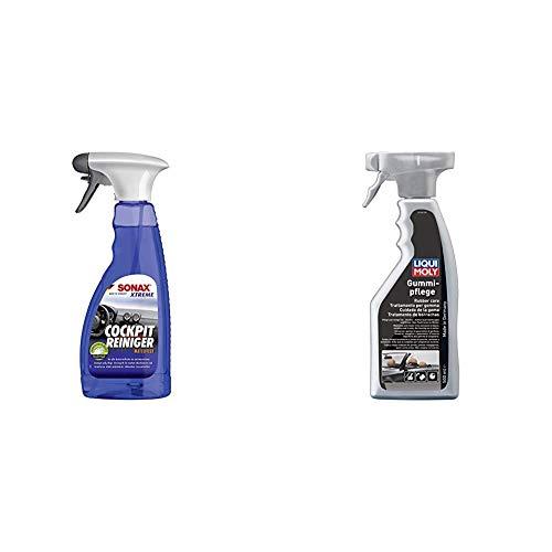 SONAX Xtreme CockpitReiniger Matteffect (500 ml) Reinigung und Pflege für alle Kunststoffoberflächen im Autoinnenraum | Art-Nr. 02832410 & LIQUI Moly 1538 Gummi-Pflege, 500 ml