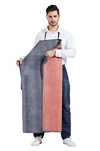 Nanxson Tablier Hommes Épais Long En Caoutchouc Résistant À L'Huile Imperméable Pour Usine Abattoir CF3024 (noir+rouge)