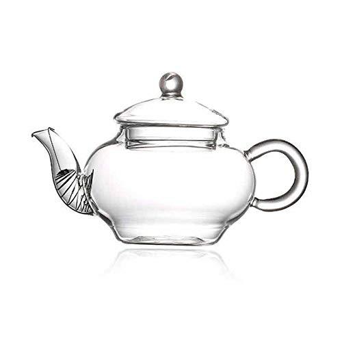 Zoo-Yilchu Tetera, Tetera de 250 ml Resistente al Calor de Alta Temperatura del Vidrio Tetera de té perfumado Mini-infusión de la Caldera de té Transparente Kung Fu té Tienen Trompeta Tetera