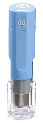 サンビー クイックC6 キャップレス 訂正印 6mm丸 本体色:ブルー