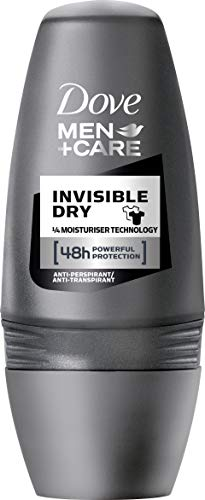 Dove Men+Care Invisible Dry Deo Roll-On, 3er Pack (3 x 50 ml)