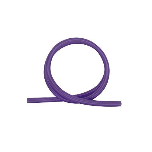 Shisha King Premium Silikonschlauch glänzend | 150cm lang | für alle Wasserpfeifen & Mundstücke | Zubehör Shisha Schlauch lebensmittelecht Silikon (Lila)