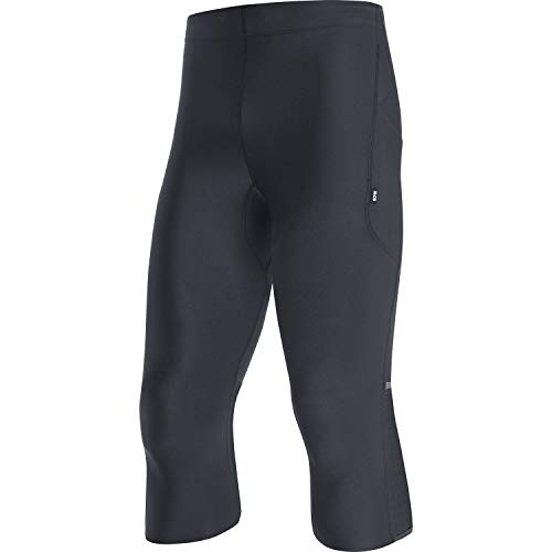 GORE WEAR Mallas 3/4 de running Impulse para hombre, L, Negro