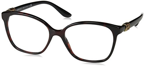 Versace Versase VE3235B 989 54 Red Havana Woman Square Eyeglasses