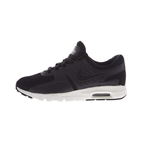 Nike Nike Damen W air max Zero Laufschuhe, Black Black Schwarz Schwarz Segel, 42 EU