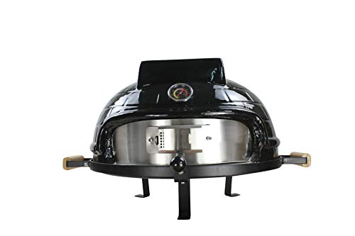 Amania Trading Ltd Higoshi BLACK Ceramic Mini Cooking Table Top Pizza Oven Next Day Delivery