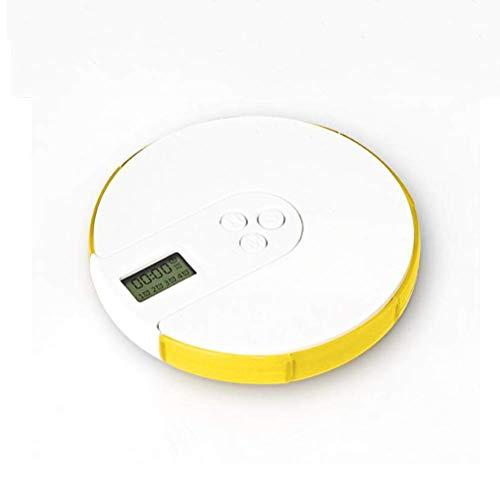 Intelligente elektronische Pill Box Timing Sprak Draagbare medicijnherinnering met grote capaciteit om in te pakken 7 roosters waterdicht draagbaar milieu geel