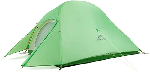 Naturehike Cloud-Up 2 Person Lightweight Backpacking Tent with Footprint - 3 Season Free Standing Dome Camping Hiking Waterproof Backpack Tents(210T Green)