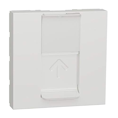 Carátula toma RJ45, 2 módulos, color blanco polar (Schneider Electric NU941118)