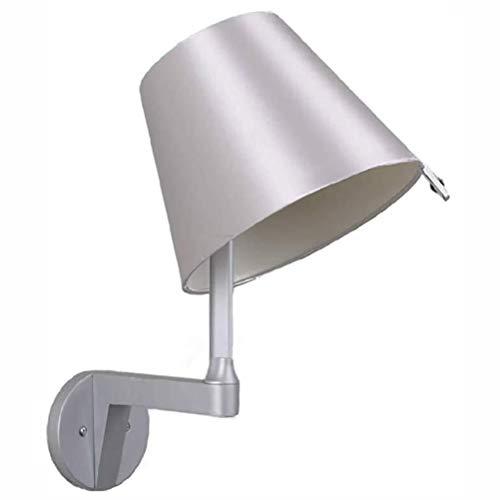 Wandlamp, Modern leesvoer wandlamp, met Switch, stoffen kap, verstelbare Beam Hoek, E27, Indoor Bedroom Living Room Verlichting Wandlamp
