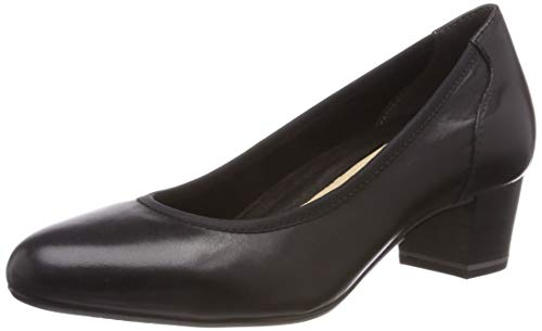 Tamaris Damen 1-1-22301-22 Pumps, Schwarz (Black Leather 3), 39 EU