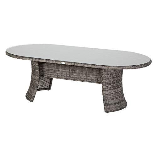 Hespéride Table Ovale d'extérieur Mooréa Terre d'ombre
