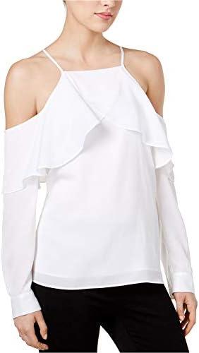 Bar III Womens Cold Shoulder Short Sleeve Tee Blouse Top BHFO 4212
