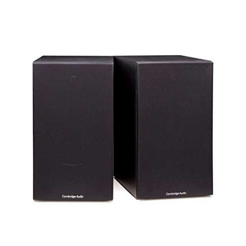 Cambridge Audio SX60 Bookshelf or Standmount Speaker | 100 Watt Home Theater Speakers | Pair (Black)
