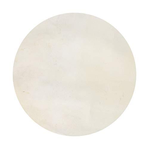 BQLZR Trommelfell aus Ziegenhaut, rund, für Bongos, Shamanentrommeln, Tambourine, 25,4 cm, Beige
