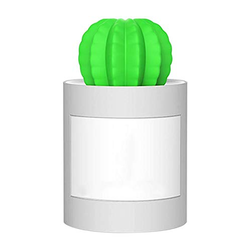 JSQZOD 280 Ml Usb Humidificador De Aire Temporizador De Cactus Difusor De Aromaterapia Fabricante De Niebla Nebulizador Mini Difusor De Aroma Con Luz Nocturna Para El Hogar
