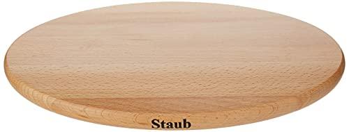 STAUB Dessous de Plat Aimanté, Ovale, Ø 29 cm, Bois Hêtre