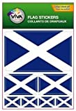 Scotland St Andrews Cross Country Flag Set of 7 Different Size Collection Decal Stickers New in Package