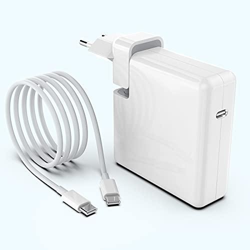 Cargador Mac Book Pro/Air de PD 61W USB C, suministro de energía adaptador de fuente de alimentación compatible con Mac Book Pro/Air 2016 2017 2018 2019 2020 todas USB C Pad/PC con cable de 6.6Ft (2M)