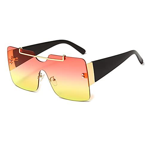 LUOXUEFEI Gafas De Sol Gafas De Sol Sin Montura Mujer Hombre Gafas De Sol Cuadradas De Gran Tamaño Gafas