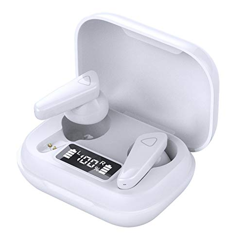 BT 5.0 Wirelessly Earbuds In-Ear Headset Mini Binaural Headphones with Charging Case LED Digital Display Sport Earphones