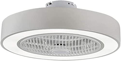 Ventiladores De Techo Con Luces Led 72W Moderna Ultra Regulable Con Control Remoto Blanco