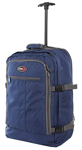 CABIN 5520 - Mochila de equipaje de mano/cabina de viaje ligera con ruedas y correas retráctiles, maleta de cabina de 55 x 40 x 20 cm, 44 litros, aprobada por vuelo IATA/EasyJet/Ryanair