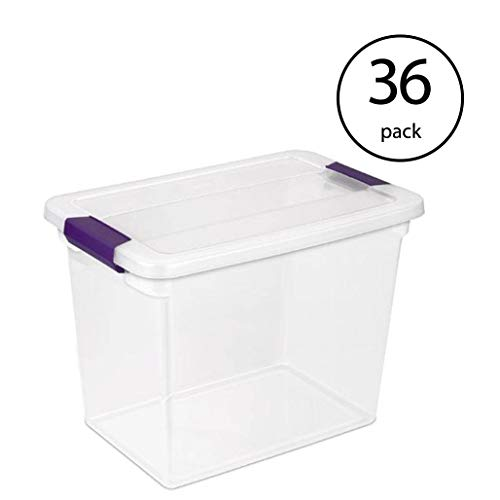 Buy Discount STERILITE 17631706 27-Quart Clearview Latch Box Storage Tote Container (36 Pack)