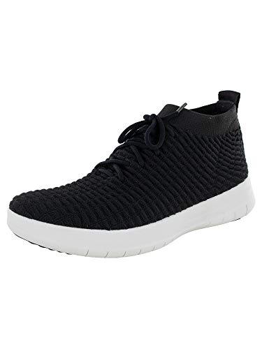 FitFlop Uberknit Slip-on High Top Sneaker Waffle, Zapatillas Hombre, Negro (Black 001), 46 EU