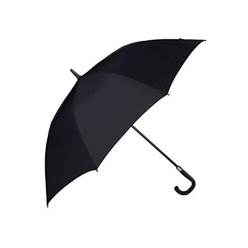 Faltender automatischer offener extragroßer Regenschirm, Schwarze Winddichte wasserdichte Stock-Regenschirme für Männer Frauen, Golf- / im Freien- / Geschäftsregenschirm, 62 Zoll