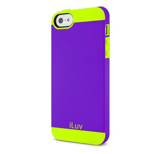 iLuv Flighfit - Cover per iPhone 5/5S, Colore: Viola