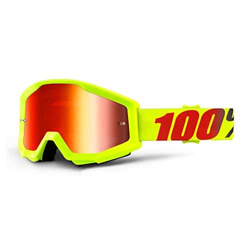 100% STRATA Brille Mercury - Spiegel Linse, Rot , Größe One Size