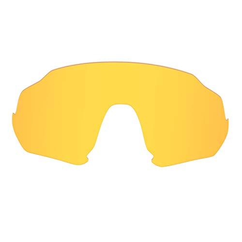 HKUCO Renforcer Jaune transparent Polarisé Rechange Lentille Pour Oakley Flight Jacket Lunettes de soleil