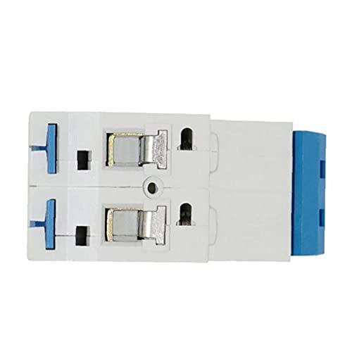 Interruptor Miniatura Interruptor de bajo Voltaje de Voltaje 2 Polo Montaje de riel DIN 63A DZ47 Interruptor de Circuito para DIY y artesanía doméstica