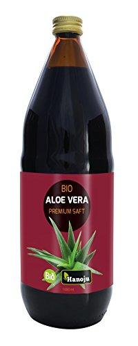 Bio Aloe Vera Premium Saft mit 1200 mg Aloverose 1000 ml - 100% reiner Direktsaft, Säuerungsmittel: Zitronensäure 0,1%