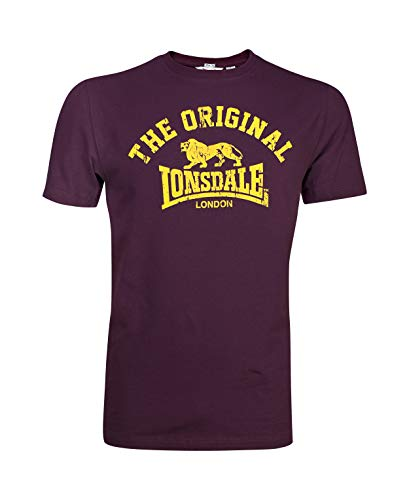 Lonsdale Original - T-Shirt - Regular - Homme - Rouge (altmodisches weinrot) - Large