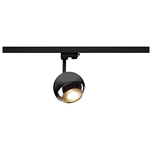 SLV 3 Phasen System Leuchte LIGHT EYE 150 / Strahler, LED-Spot, Decken-Strahler, Decken-Leuchte, Schienensystem, Innen-Beleuchtung / GU10 75.0W schwarz