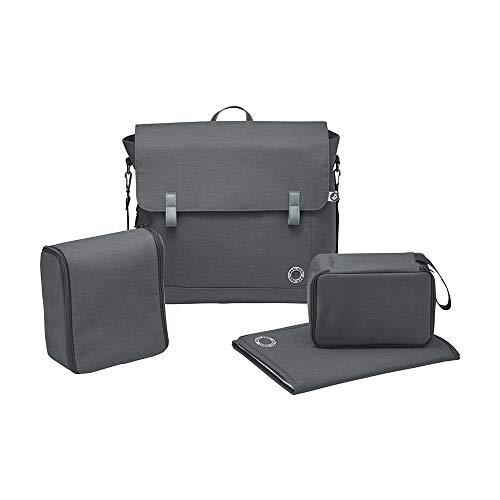 Maxi-Cosi Modern Bag, Praktische Wickeltasche mit Vielen Extras, Thermobox, Wickelunterlage, Thermobox, Kulturtasche, Baby-Tasche, Windel-Tasche, Essential Black (schwarz)